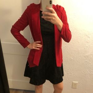 Red blazer- great for work!